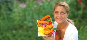 Fruitylou with fruit platter